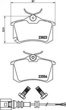 Brembo P 85 066 - Комплект тормозных колодок, дисковый тормоз autodnr.net