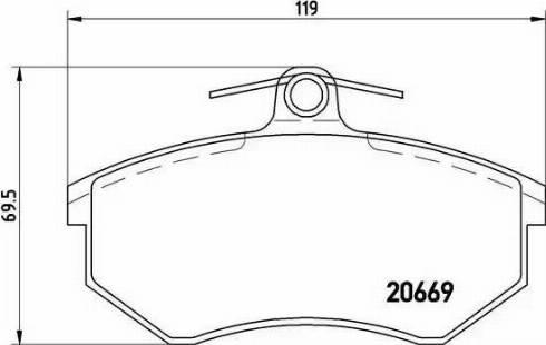 Brembo P 85 092 - Комплект тормозных колодок, дисковый тормоз autodnr.net