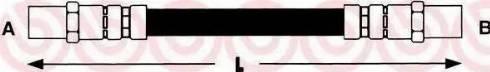 Brembo t85018 - Тормозной шланг autodnr.net