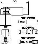 Bremi 10206vw1 - Вилка, катушка зажигания autodnr.net