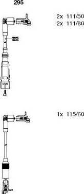Bremi 295 - Комплект проводів запалювання autocars.com.ua