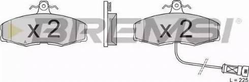 Bremsi BP2209 - Комплект тормозных колодок, дисковый тормоз autodnr.net