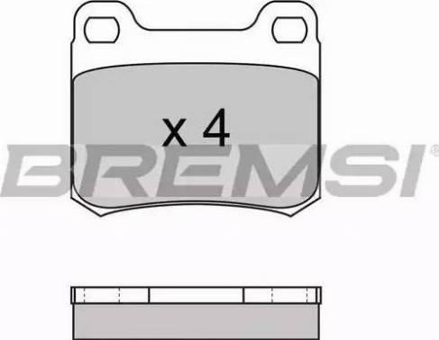 Bremsi BP2227 - Комплект тормозных колодок, дисковый тормоз autodnr.net
