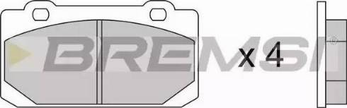 Bremsi BP2240 - Комплект тормозных колодок, дисковый тормоз autodnr.net