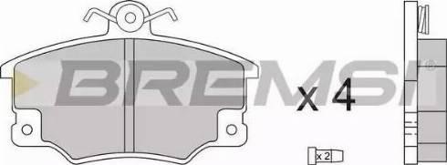 Bremsi BP2268 - Комплект тормозных колодок, дисковый тормоз autodnr.net