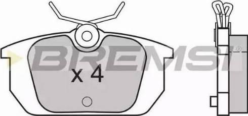 Bremsi BP2313 - Комплект тормозных колодок, дисковый тормоз autodnr.net