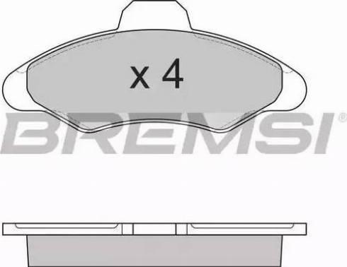 Bremsi BP2462 - Комплект тормозных колодок, дисковый тормоз autodnr.net