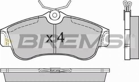 Bremsi BP2470 - Комплект тормозных колодок, дисковый тормоз autodnr.net