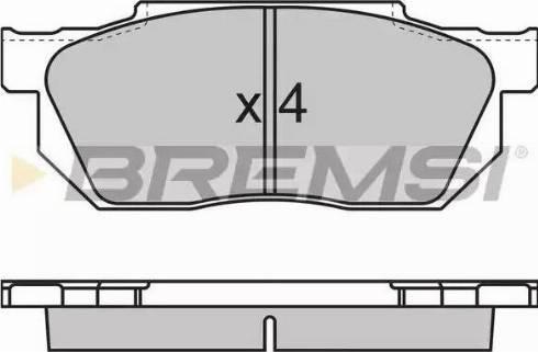 Bremsi BP2501 - Комплект тормозных колодок, дисковый тормоз autodnr.net