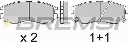 Bremsi BP2509 - Комплект тормозных колодок, дисковый тормоз autodnr.net