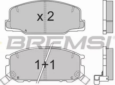 Bremsi BP2537 - Комплект тормозных колодок, дисковый тормоз autodnr.net