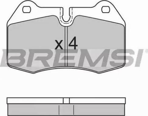 Bremsi BP2660 - Комплект тормозных колодок, дисковый тормоз autodnr.net