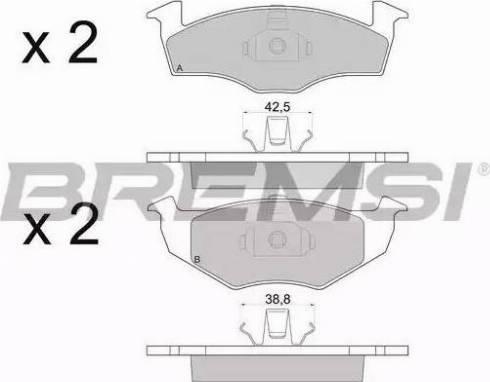 Bremsi BP2672 - Комплект тормозных колодок, дисковый тормоз autodnr.net