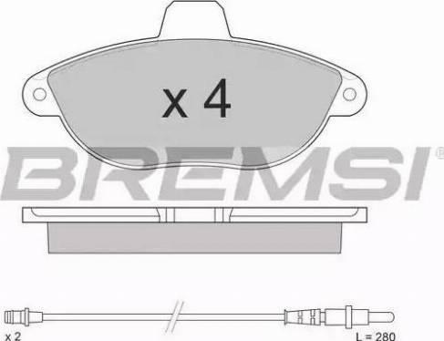 Bremsi BP2678 - Комплект тормозных колодок, дисковый тормоз autodnr.net