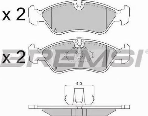Bremsi BP2704 - Комплект тормозных колодок, дисковый тормоз autodnr.net