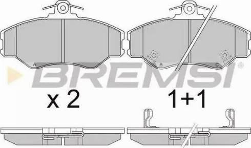 Bremsi BP2708 - Комплект тормозных колодок, дисковый тормоз autodnr.net