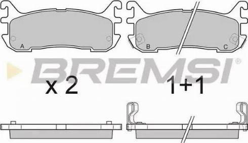 Bremsi BP2759 - Комплект тормозных колодок, дисковый тормоз autodnr.net