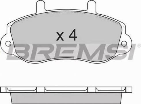 Bremsi BP2767 - Комплект тормозных колодок, дисковый тормоз autodnr.net