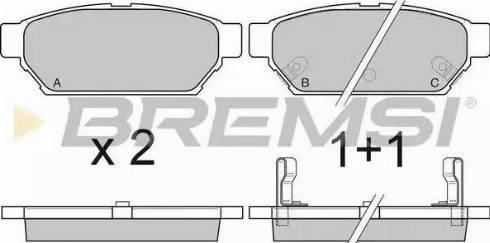 Bremsi BP2800 - Комплект тормозных колодок, дисковый тормоз autodnr.net