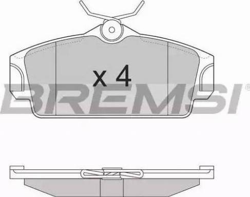 Bremsi BP2862 - Комплект тормозных колодок, дисковый тормоз autodnr.net