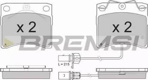 Bremsi BP2869 - Комплект тормозных колодок, дисковый тормоз autodnr.net