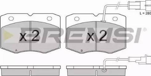Bremsi BP2949 - Комплект тормозных колодок, дисковый тормоз autodnr.net