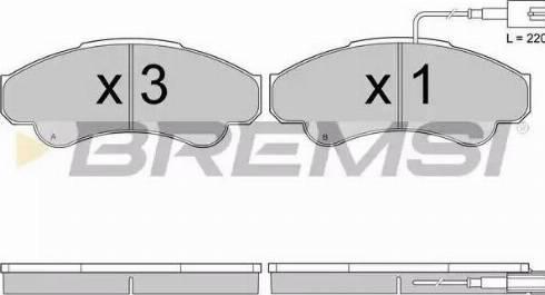 Bremsi BP2998 - Комплект тормозных колодок, дисковый тормоз autodnr.net