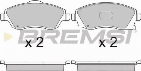 Bremsi BP3000 - Комплект тормозных колодок, дисковый тормоз autodnr.net