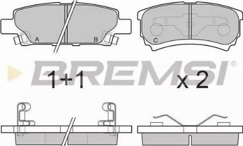 Bremsi BP3106 - Комплект тормозных колодок, дисковый тормоз autodnr.net