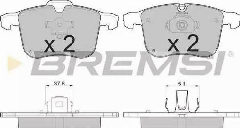Bremsi BP3109 - Комплект тормозных колодок, дисковый тормоз autodnr.net