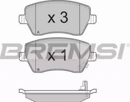 Bremsi BP3248 - Комплект тормозных колодок, дисковый тормоз autodnr.net
