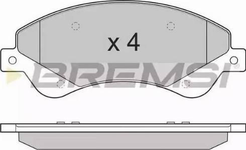 Bremsi BP3273 - Комплект тормозных колодок, дисковый тормоз autodnr.net