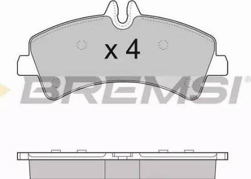 Bremsi BP3291 - Комплект тормозных колодок, дисковый тормоз autodnr.net