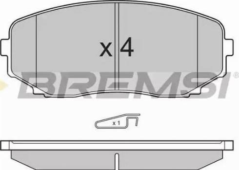 Bremsi BP3332 - Комплект тормозных колодок, дисковый тормоз autodnr.net
