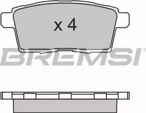 Bremsi BP3333 - Комплект тормозных колодок, дисковый тормоз autodnr.net