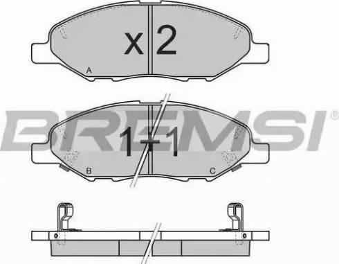 Bremsi BP3335 - Комплект тормозных колодок, дисковый тормоз autodnr.net