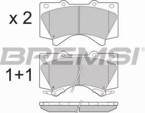 Bremsi BP3381 - Комплект тормозных колодок, дисковый тормоз autodnr.net