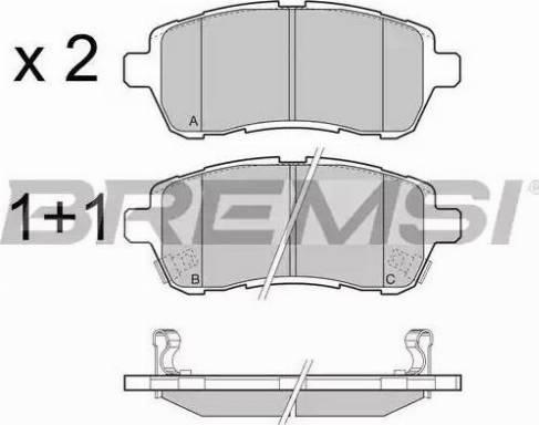 Bremsi BP3466 - Комплект тормозных колодок, дисковый тормоз autodnr.net