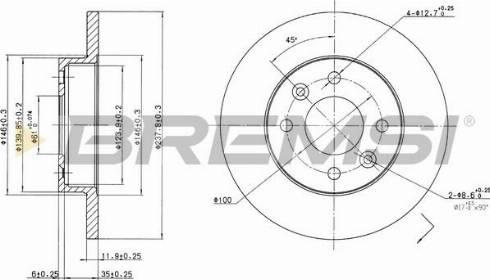 Bremsi CD6055S - Тормозной диск autodnr.net