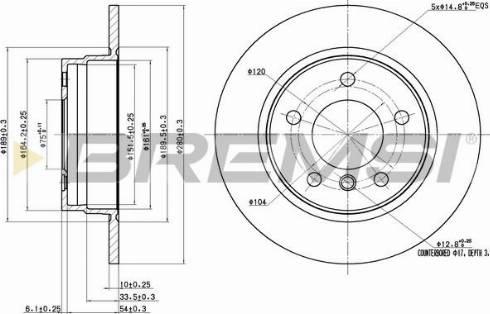 Bremsi CD6249S - Тормозной диск autodnr.net
