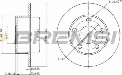 Bremsi CD6265S - Тормозной диск autodnr.net