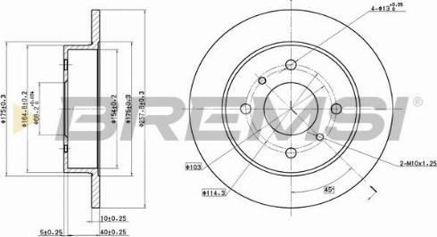 Bremsi CD6267S - Тормозной диск autodnr.net
