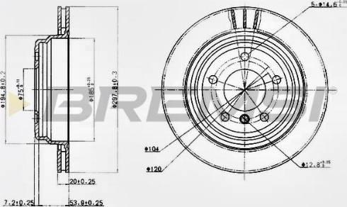 Bremsi CD6836V - Тормозной диск autodnr.net