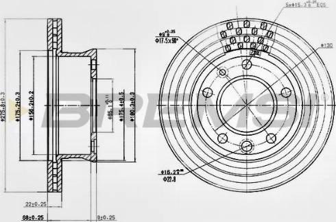 Bremsi CD7013V - Тормозной диск autodnr.net