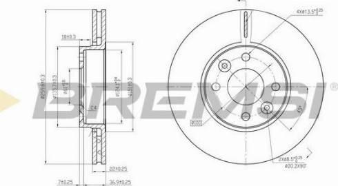 Bremsi CD7201V - Тормозной диск autodnr.net