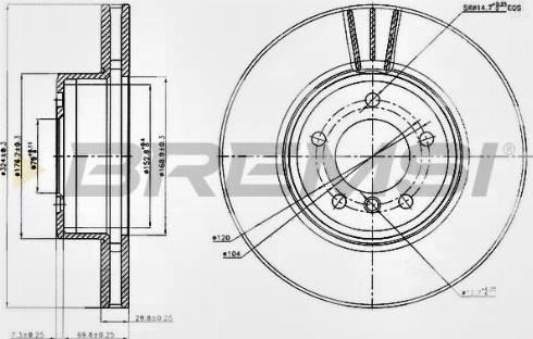 Bremsi CD7242V - Тормозной диск autodnr.net