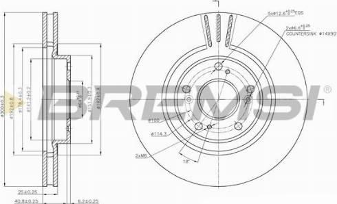 Bremsi CD7266V - Тормозной диск autodnr.net
