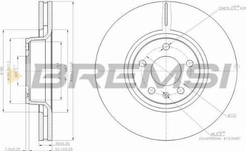 Bremsi CD7277V - Тормозной диск autodnr.net