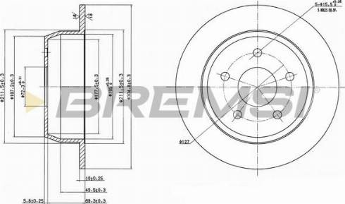 Bremsi CD7553S - Тормозной диск autodnr.net