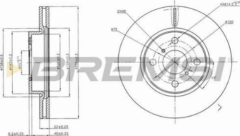 Bremsi CD7587V - Тормозной диск autodnr.net